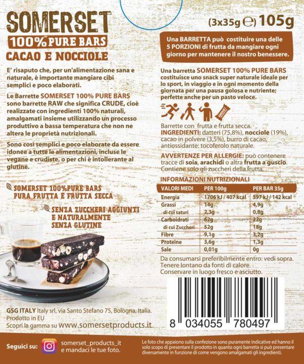Barrette cacao e nocciole