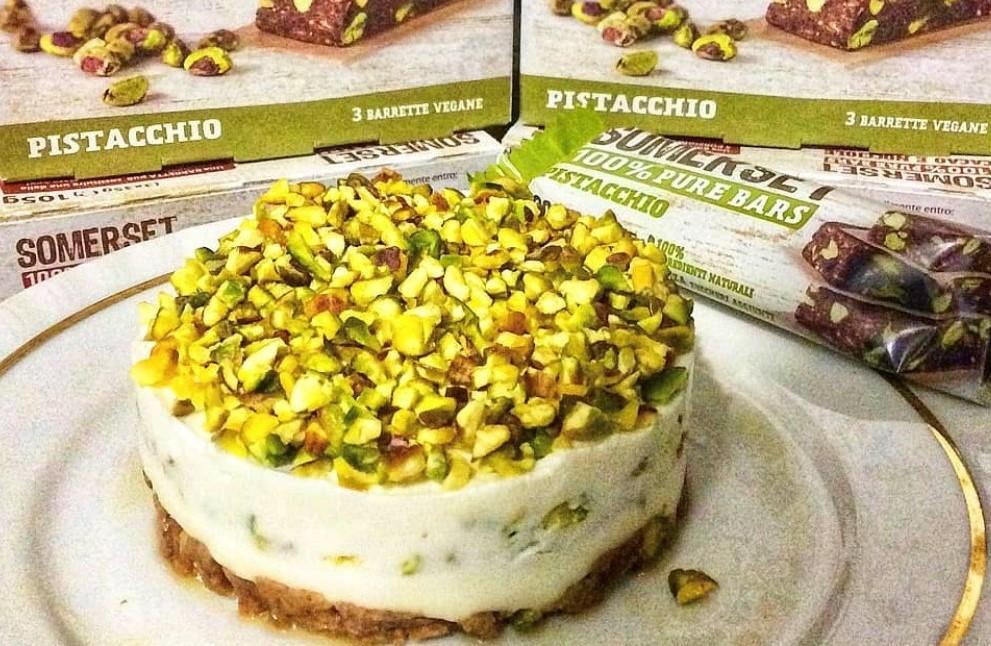 Cheesecake light al pistacchio